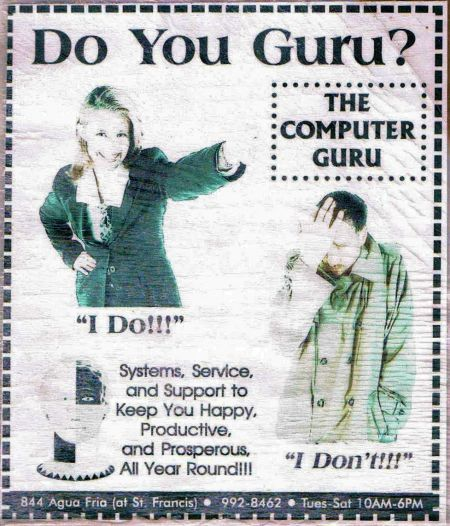 Another Classic Computer Guru Advertisement
